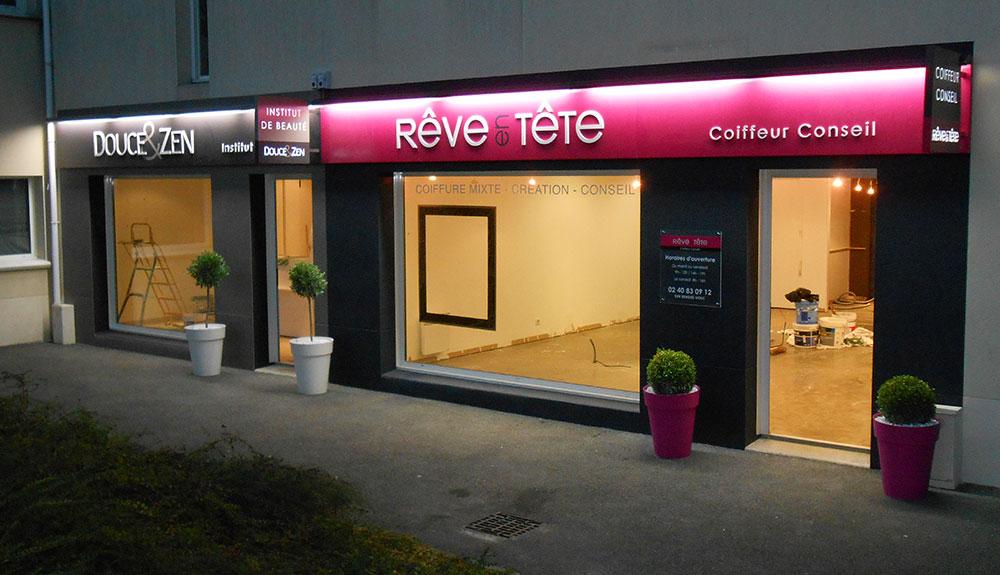 Enseignes Salon De Coiffure Et Institut De Beaut Evelyne D Co